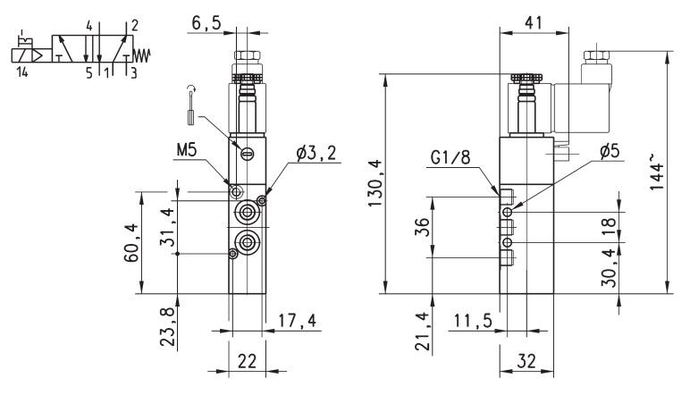 Схема работы и габаритные размеры распределителя 358-015-02