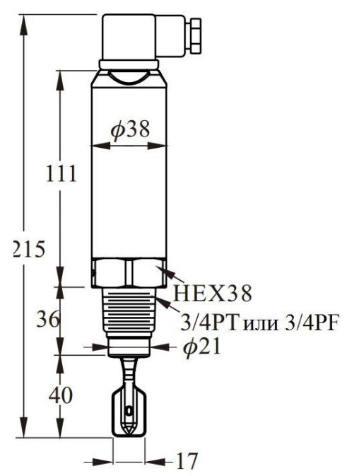 Габаритные размеры IL-VA-TS и IL-VAS-TS