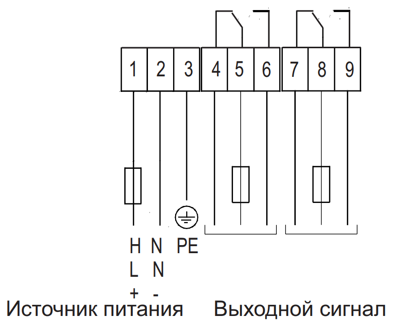 Схема подключения датчика INNOLevel Vibro-U